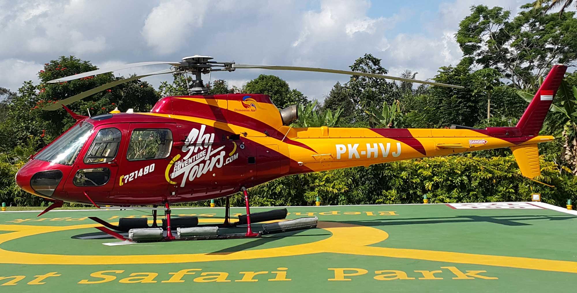Helicopter Bali Villa Babar