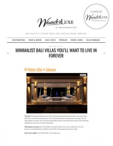Wanderluxe - Press - Villa Babar